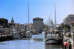 canale cervia italy porto Royaltyfri Fotografi