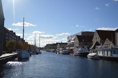 Canale a Copenhaghen Immagine Stock
