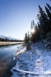 Canale dal lago two Jack a Banff Fotografia Stock Libera da Diritti