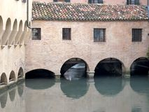 Canale dei Buranelli in the historic center of Treviso Royalty Free Stock Photos