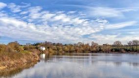 Canale del bacino idrico, di Worcester e di Birmingham di Tardebigge, Inghilterra Fotografia Stock