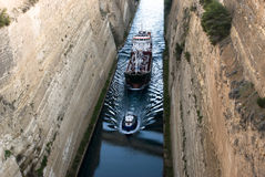 Canale del Korinth immagine stock