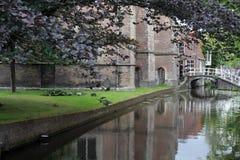 Canale a Delft Fotografia Stock