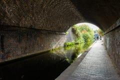 Canale dell'acqua a Birmingham Fotografia Stock Libera da Diritti