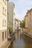 Canale dell'acqua a Praga Fotografia Stock Libera da Diritti