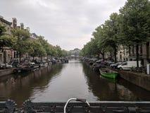 Canale della città di Amsterdam Fotografia Stock