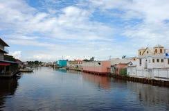 Canale della città di Belize Fotografie Stock