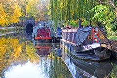 Canale della città, Londra Fotografia Stock