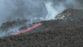 Canale della lava video d archivio