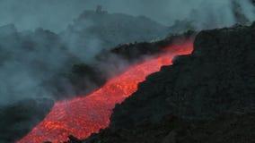 Canale della lava stock footage