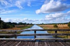 Canale della regione selvaggia di Florida Fotografia Stock
