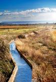 Canale di acqua Fotografia Stock