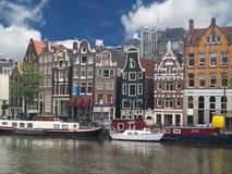 Canale di Amsterdam Immagine Stock