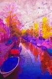 Canale di Amsterdam royalty illustrazione gratis