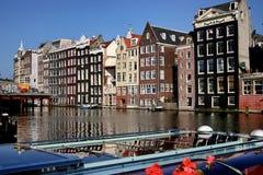Canale di Amsterdam, Immagini Stock Libere da Diritti