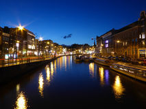 Canale di Amsterdam Fotografie Stock Libere da Diritti