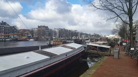 Canale di Amsterdam stock footage