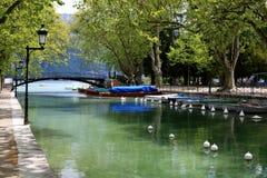 Canale di Annecy fotografia stock