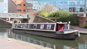 Canale di Birmingham video d archivio