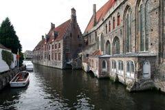 Canale di Bruges fotografie stock libere da diritti