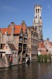 Canale di Bruges Fotografia Stock Libera da Diritti