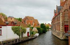 Canale di Bruges Immagine Stock Libera da Diritti