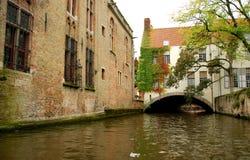 Canale di Bruges Fotografia Stock