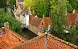 Canale di Bruges Immagini Stock Libere da Diritti