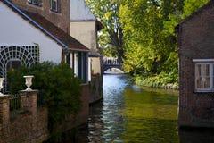 Canale di Bruges Immagine Stock