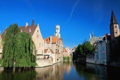 Canale di Bruges, Belgio immagini stock libere da diritti