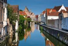 Canale di Bruges, Belgio Immagine Stock