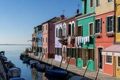 Canale di Burano Fotografia Stock