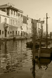 Canale di Chioggia immagine stock libera da diritti