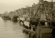 Canale di Chioggia fotografie stock libere da diritti
