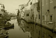 Canale di Chioggia fotografia stock libera da diritti