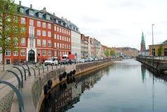 Canale di Copenhaghen fotografia stock libera da diritti