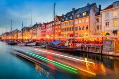 Canale di Copenhaghen Danimarca fotografia stock