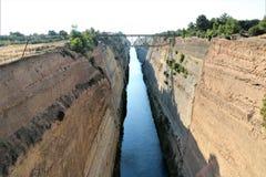 Canale di Corinth, Grecia immagine stock