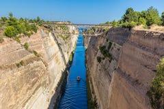 Canale di Corinth in Grecia immagine stock
