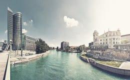 Canale di Danubio di Vienna - l'Austria Fotografia Stock Libera da Diritti