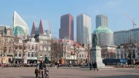 Canale di Delft, Olanda stock footage