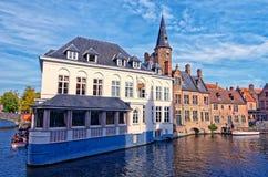 Canale di Dijver a Bruges Immagini Stock Libere da Diritti