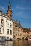 Canale di Dijver Bruges belgium immagine stock libera da diritti