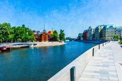 Canale di esclusione del fiume di Mosca Immagini Stock