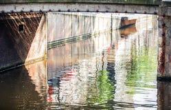 Canale di fiume di foto dell'Olanda Fotografie Stock