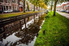 Canale di fiume di foto dell'Olanda Immagine Stock Libera da Diritti