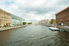 Canale di Fontanka Fotografie Stock Libere da Diritti