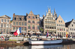 Canale di Gand, Belgio Fotografia Stock