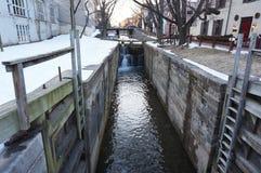 Canale di Georgetown C&O nell'inverno Immagini Stock