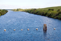 Canale di gestione delle acque Immagini Stock